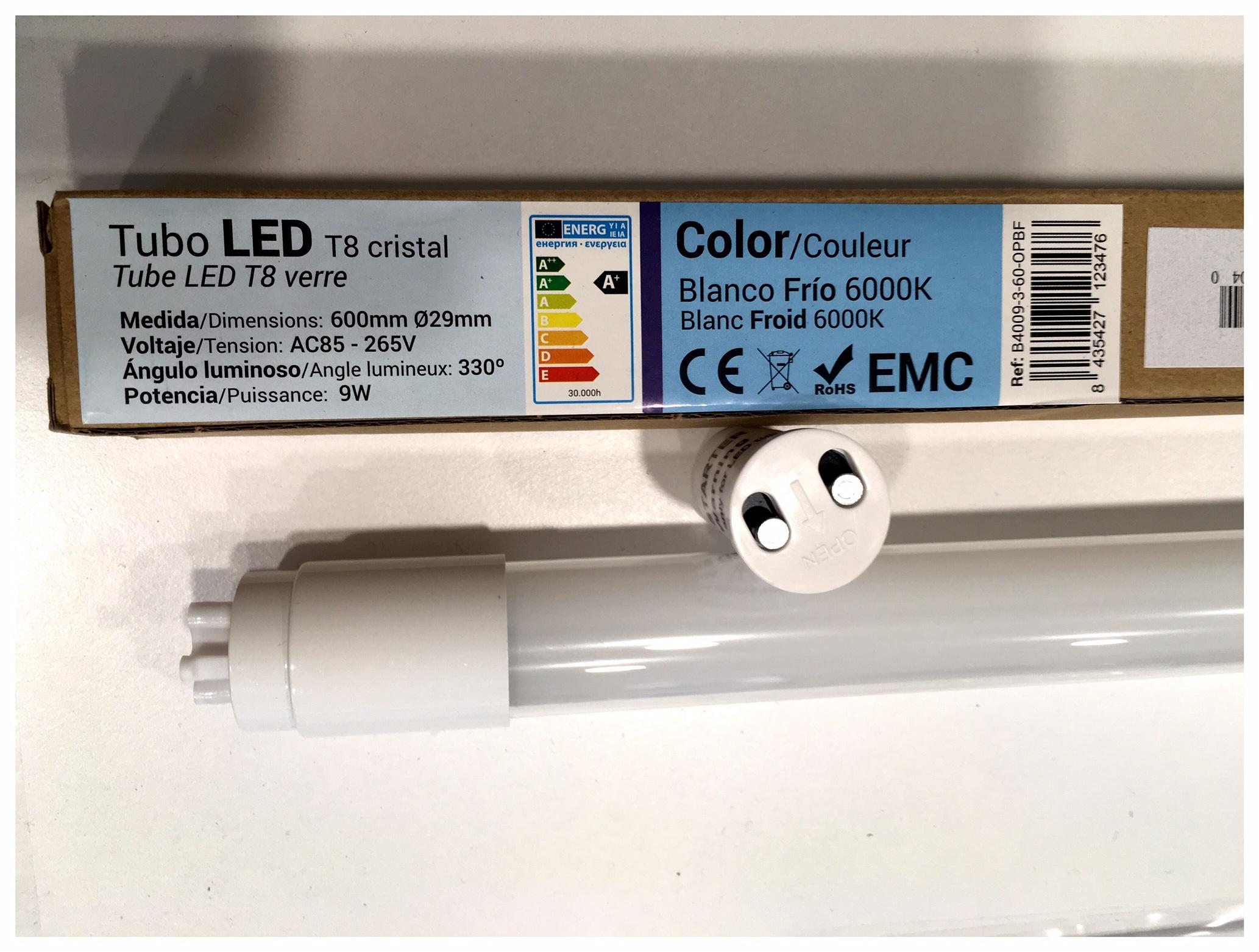Tubo LED 18W o 20W 600 mm o 1200mm económico en Andorra