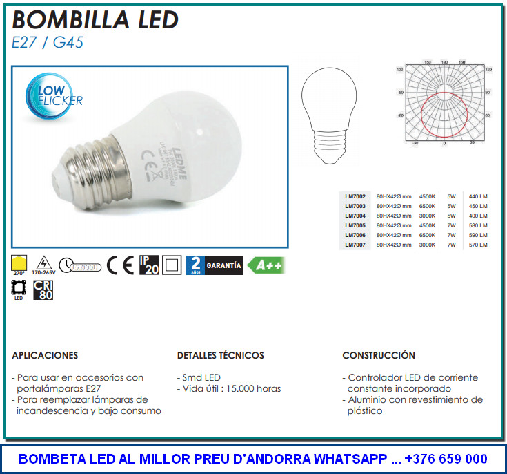On comprar les bombetes LED que necessites per la teva llar o negoci de la manera més còmoda i al millor preu i amb la garantia de la botiga de proximitat a Andorra la Vella.