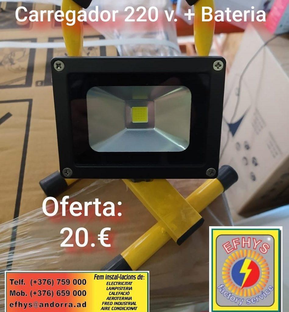 Comprar oferta Llum led mòbil amb bateria i carregador x 20€ a Efhys Andorra