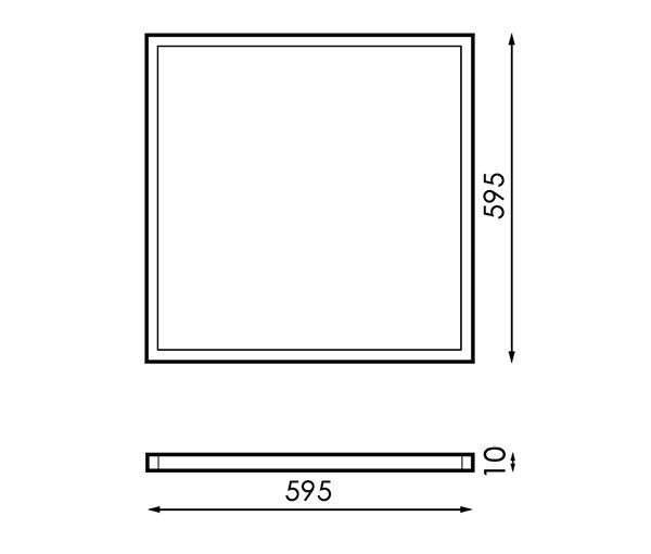 Panel LED SmartHome 60X60 cm 40W App CCT
