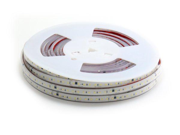 Tira de LED a 220V AC con chip SMD2835 con 110 LED/m, se puede realizar el corte cada 10 cm