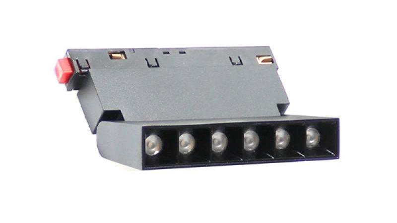 Foco Led Aotrom 6W Para Carril Magnético Negro 48V